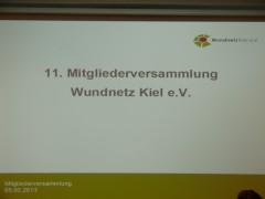 11. Mitgliederversammlung Wundnetz Kiel e.V.