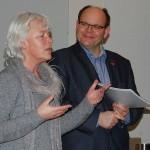 Dr. Frauke Timm und Axel Bethke berichten von den Aktivitäten innerhalb des Wundnetzes