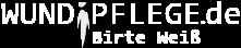 Button mit Schriftzug: Wundpflege.de Birte Weiß. Link geht in neuem Tab auf