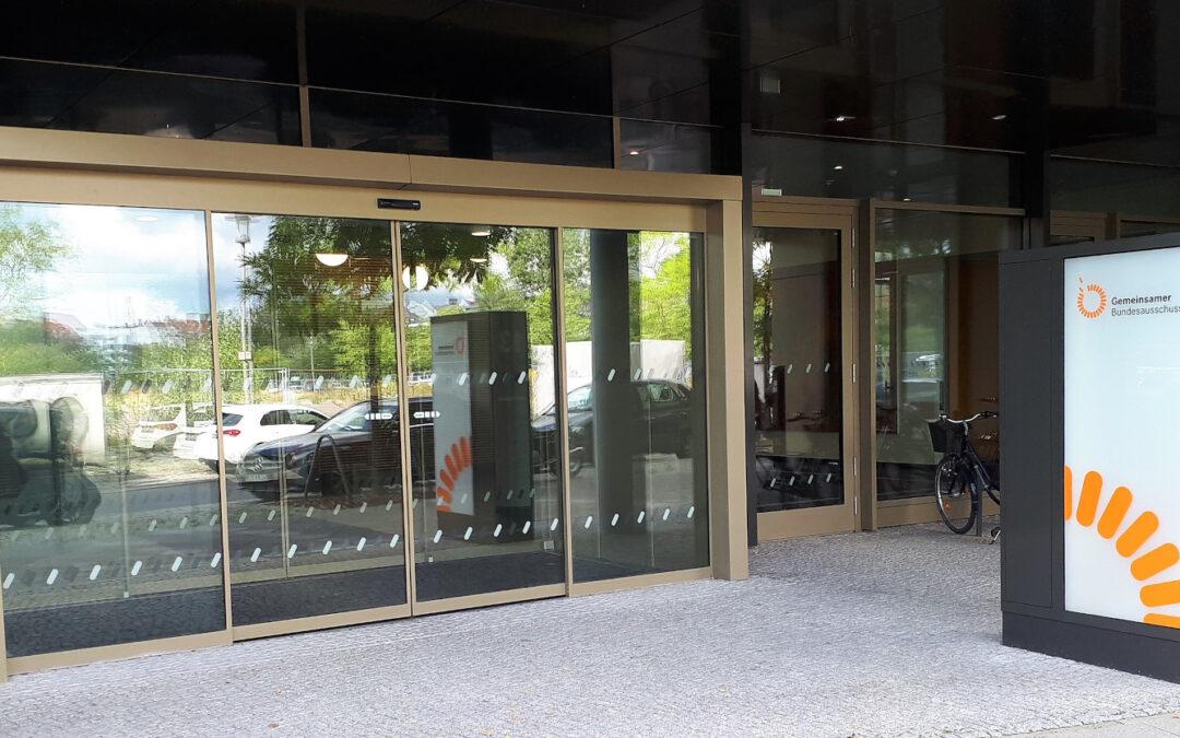 Foto vom Eingangsbereich des Gebäudes